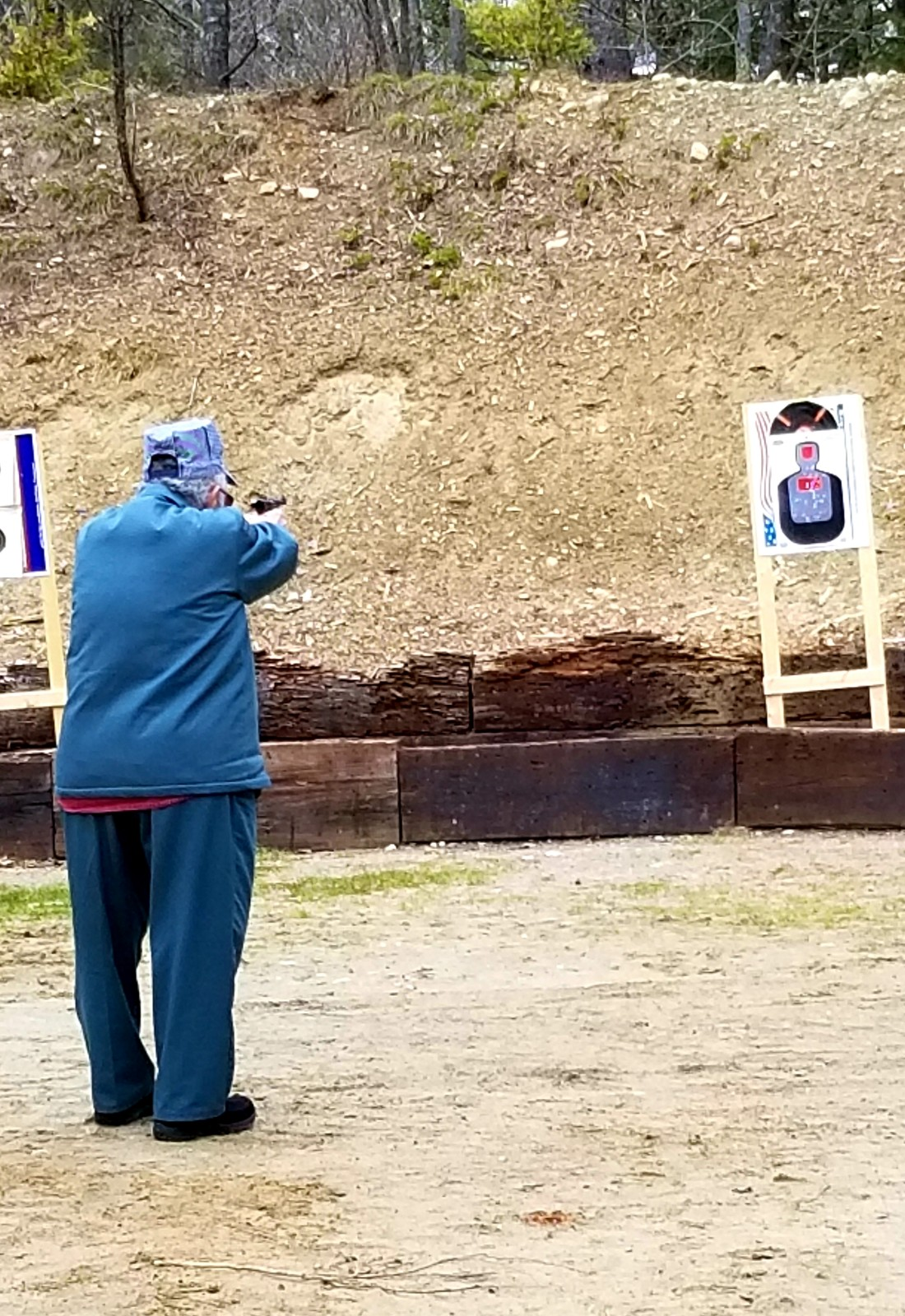 Larry shooting at targets 20200510 171329