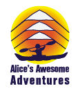 Alices logo with text vertical small