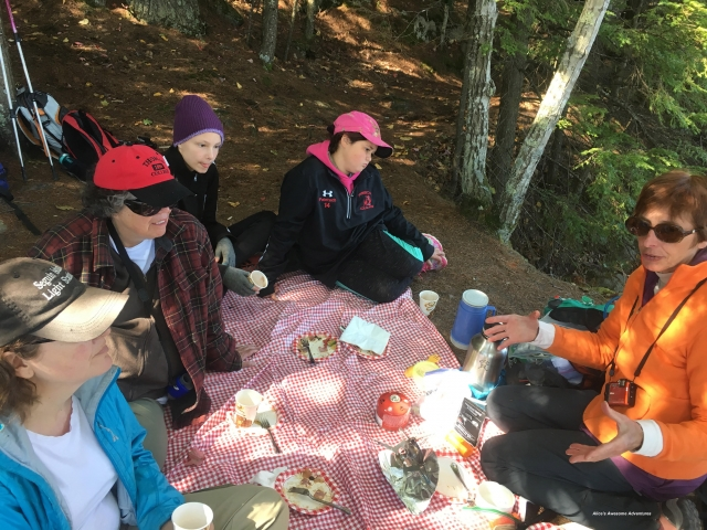 Alice teaching camp cooking