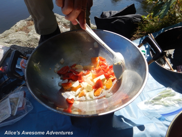 Outdoor Cooking with a Wok