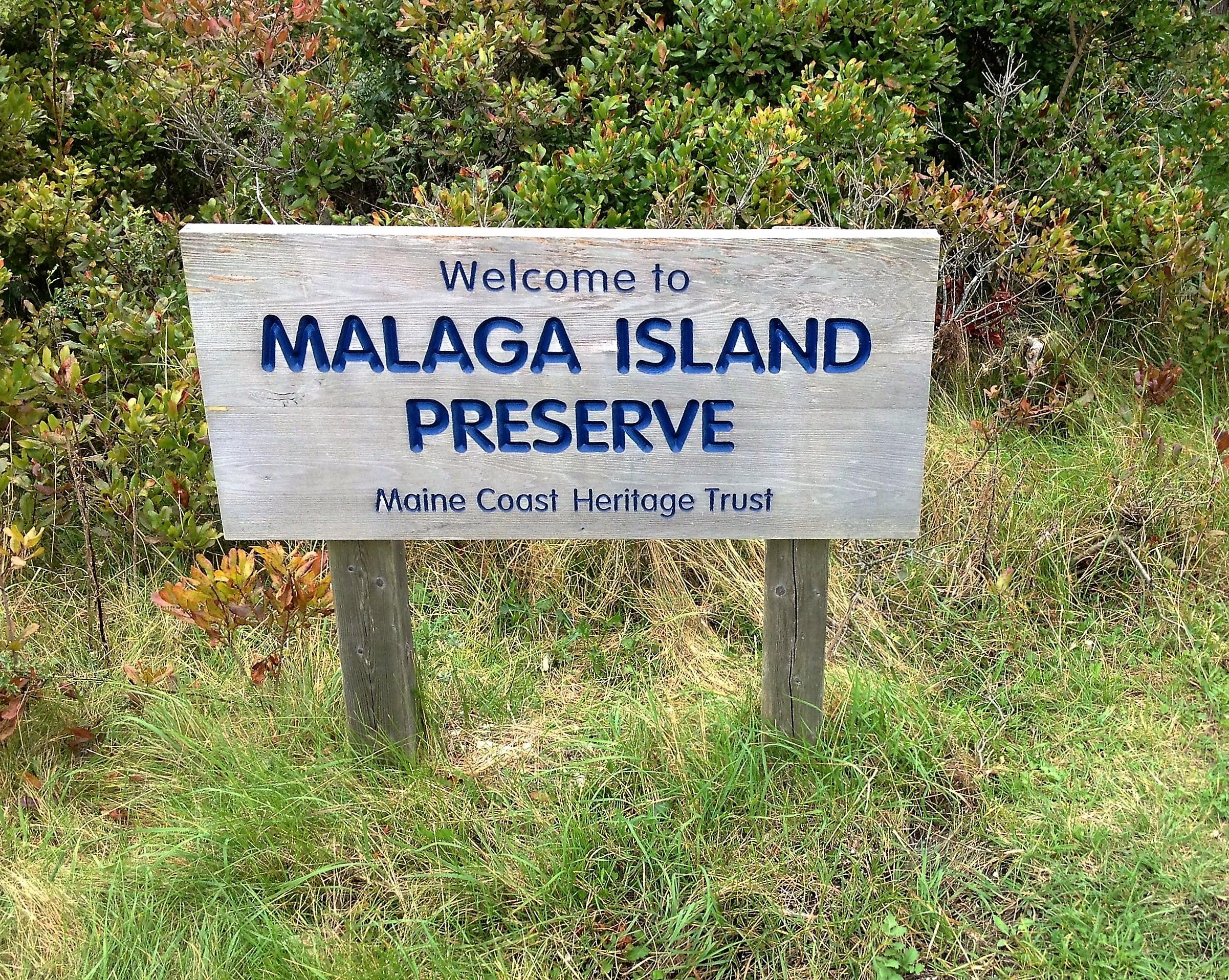 Malaga Island Sign